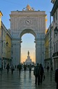 The Arch of Triumph and Commercial square  OLD TOWN LISBON,'ALFAMA '