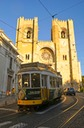 TRAM IN THE OLD TOWN LISBON,'ALFAMA '